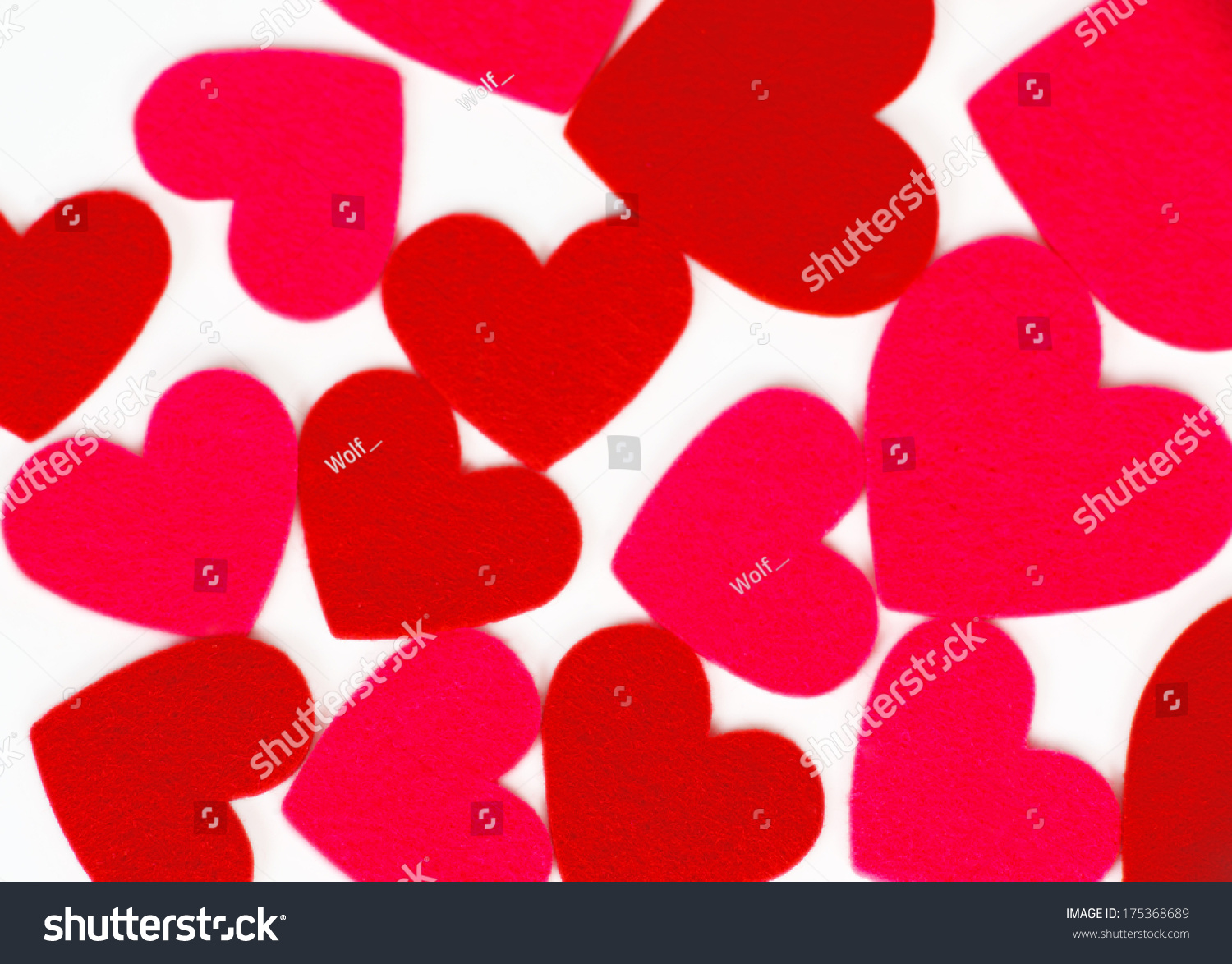 Many Colored Heart Shapes Valentines Day Stock Photo