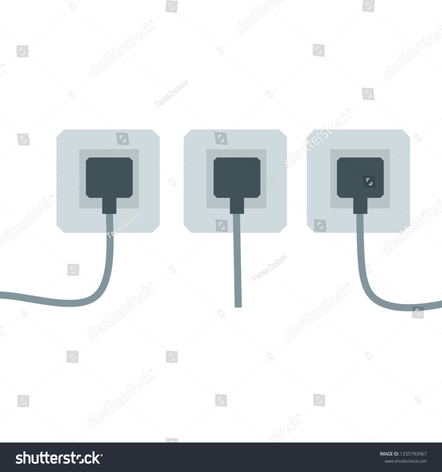 hight resolution of many outlets to plug with the wires electrical socket household appliance at home