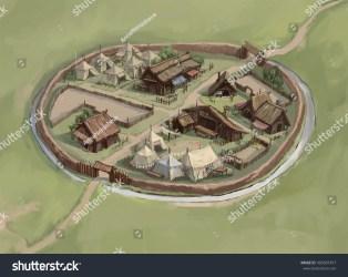 medieval viking layout town map settlement shutterstock