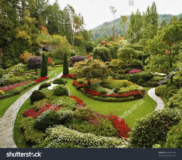 Masterpiece Landscape Gardening Art Sunkengarden Stock