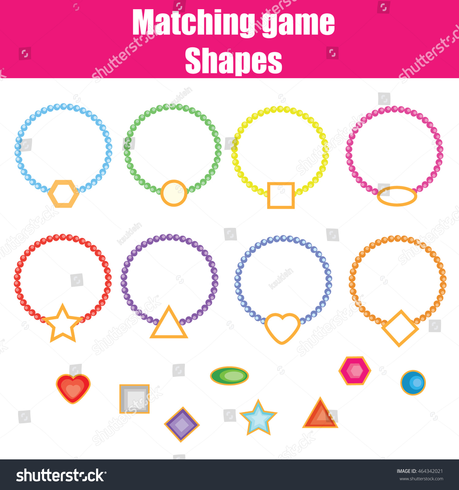 Preschool Shapes Worksheet Match