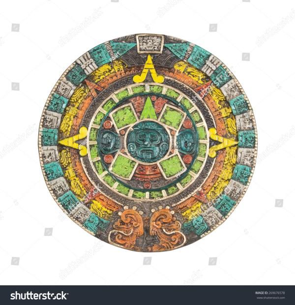 Mayan Calendar Ancient Religious Symbol Mexico Stock Photo
