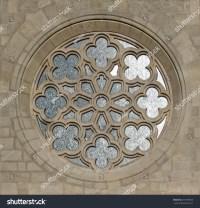 Medieval Gothic Ornate Circular Window Stock Photo ...