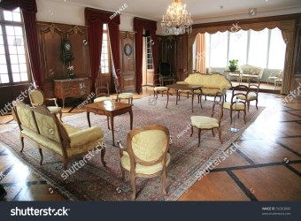 Medieval Living Room Luxurious Furniture Historical Stock Photo Edit Now 56363800