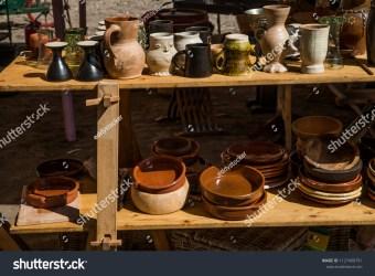 Medieval Utensils Utensils Kitchen Home Wooden Stock Photo Edit Now 1127490791