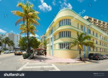 Miamiusa 212014 Ocean Drive Hotels Stock