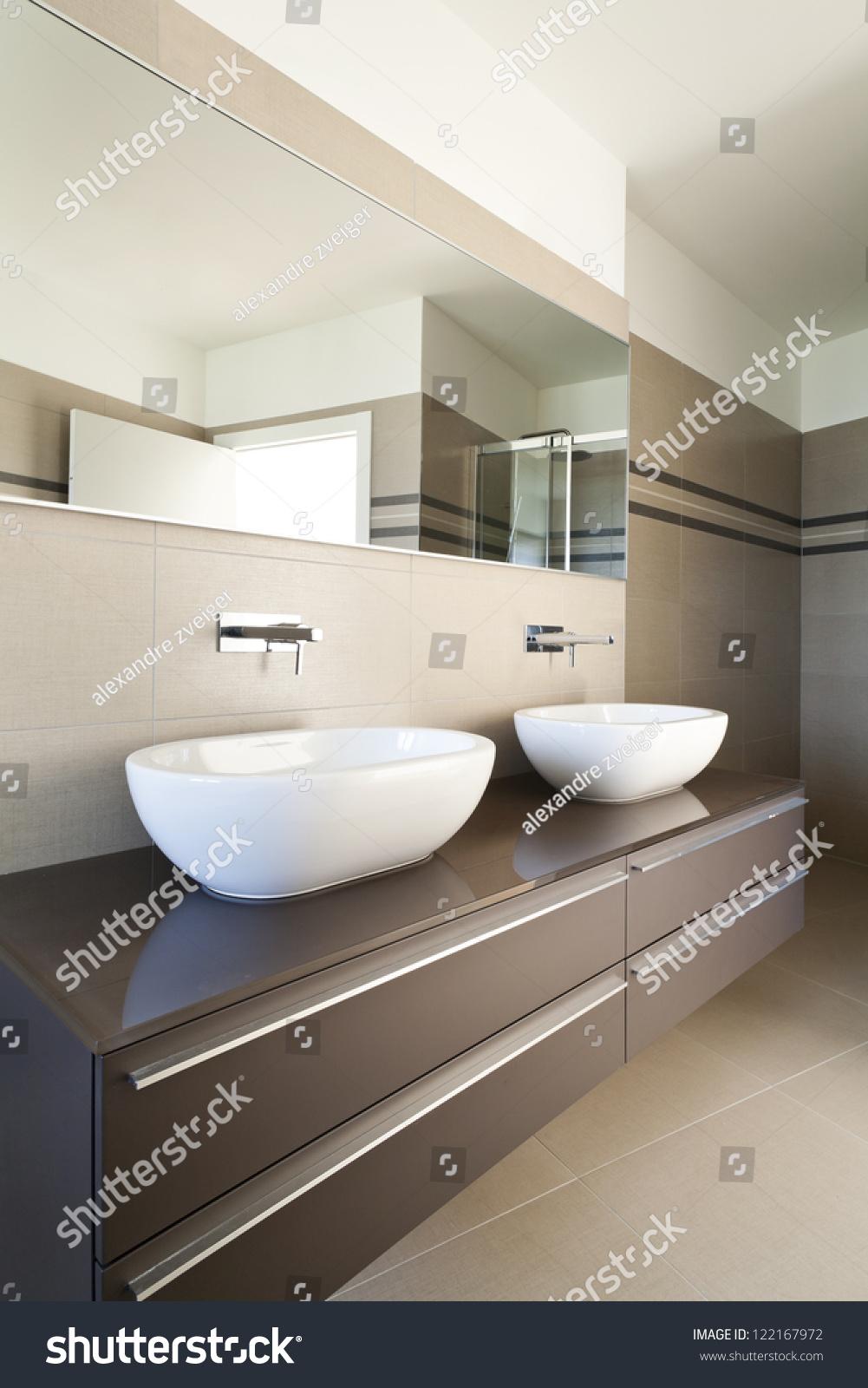 Modern Architecture New Empty Apartment Bathroom Stock Photo 122167972  Shutterstock