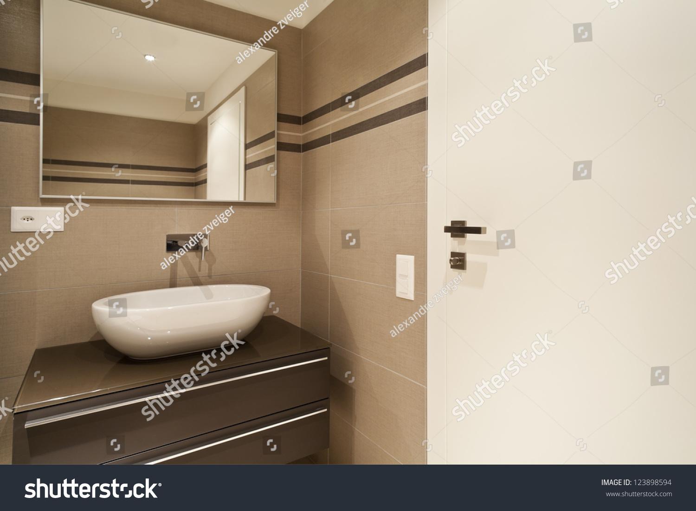 Modern Architecture New Empty Apartment Bathroom Stock Photo 123898594  Shutterstock