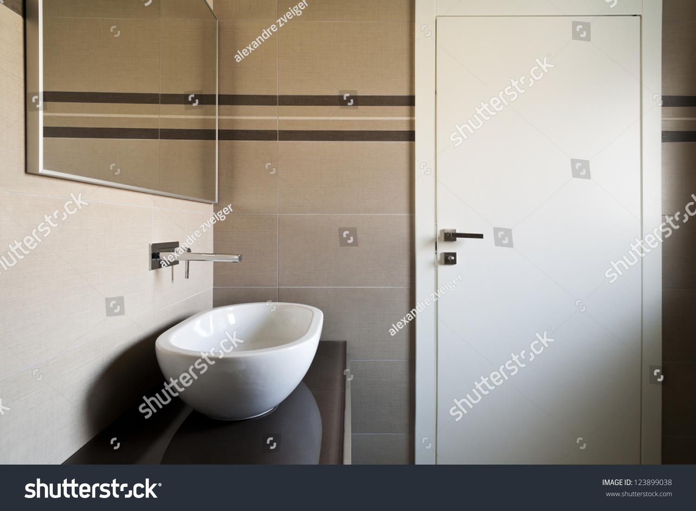 Modern Architecture New Empty Apartment Bathroom Stock Photo 123899038  Shutterstock