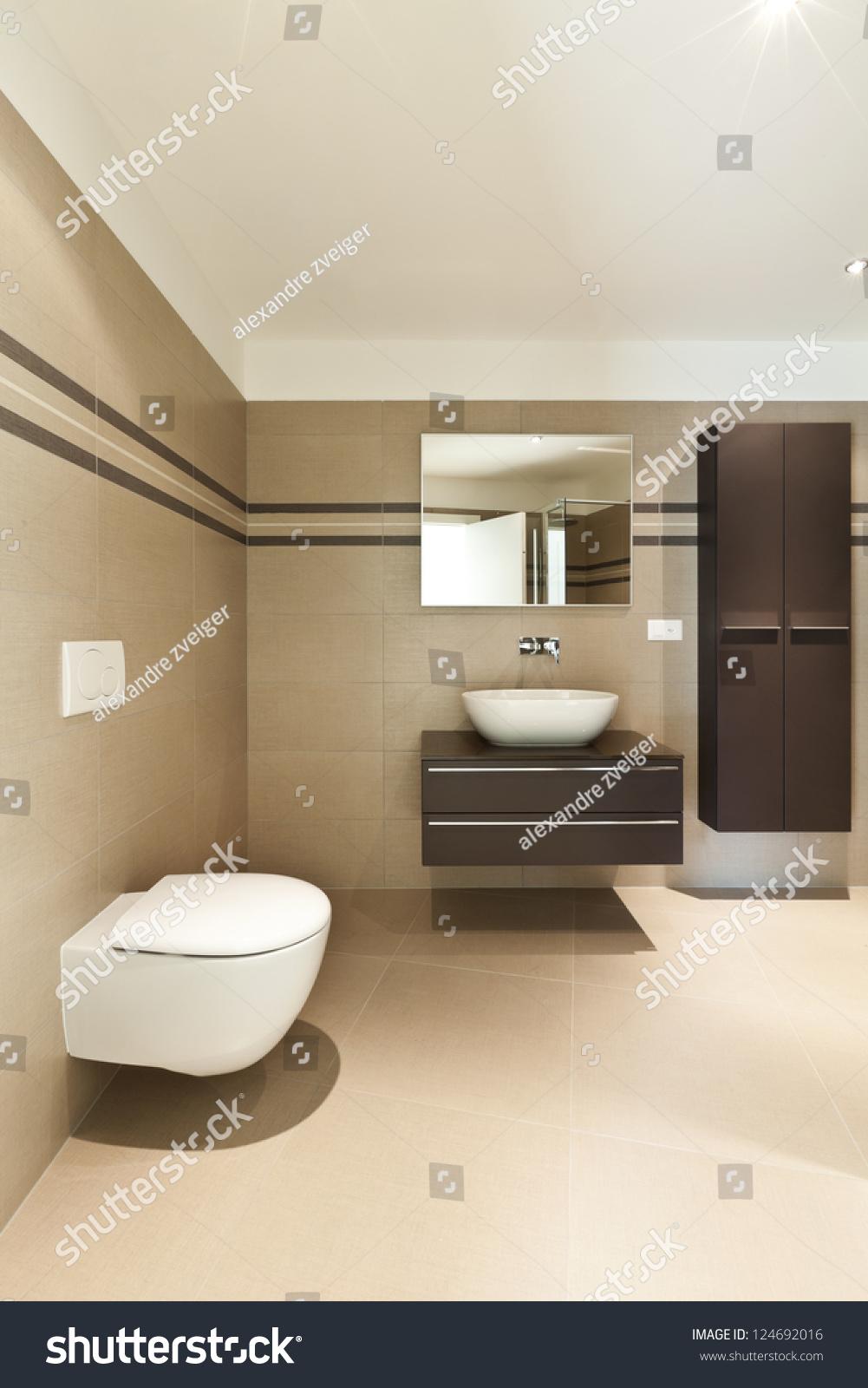 Modern Architecture New Empty Apartment Bathroom Stock Photo 124692016  Shutterstock