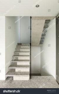 Modern Building Granite Staircase Interior Stock Photo ...