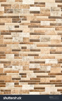 Modern Ceramic Tile Wall Construction Wall Stock Photo