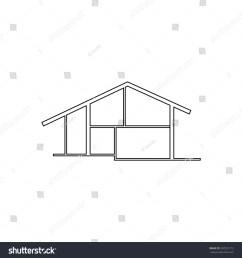 modern house outline black simple symbol [ 1500 x 1600 Pixel ]