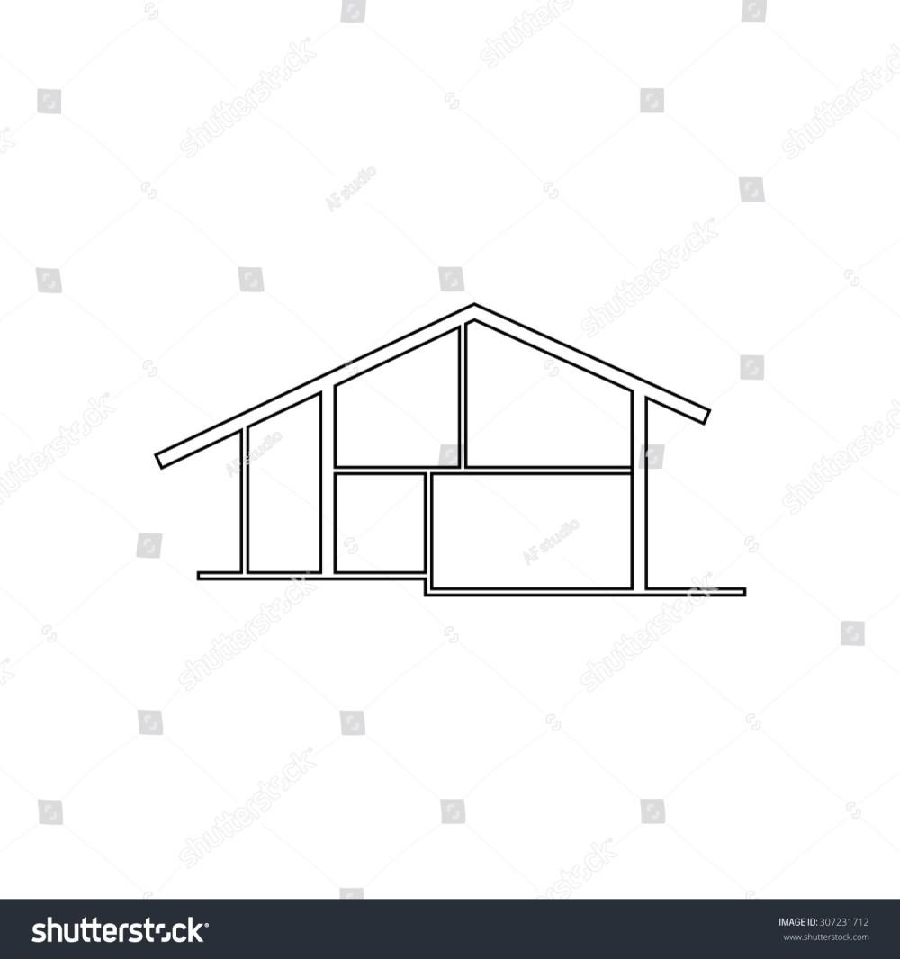 medium resolution of modern house outline black simple symbol