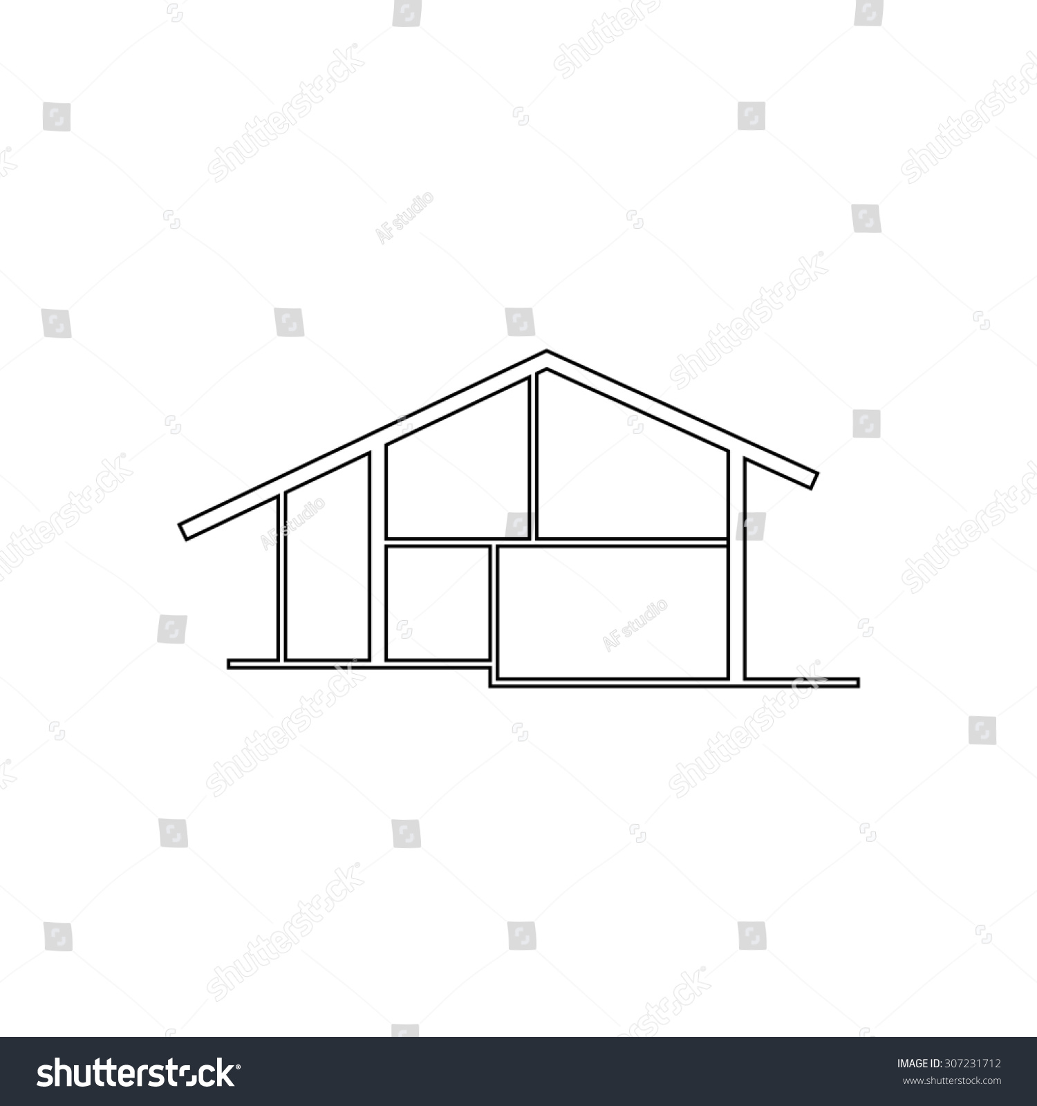 hight resolution of modern house outline black simple symbol
