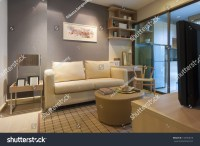 Modern Japanese Style Decorated Livingroom Kitchen Stock ...