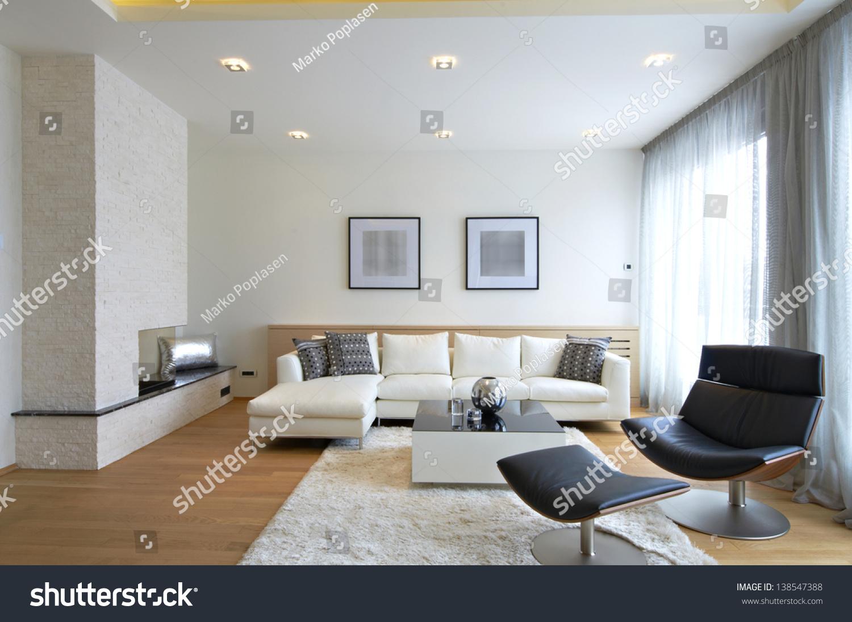 Modern Living Room Interior Stock Photo 138547388