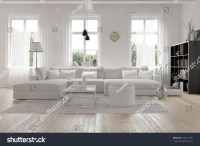 Modern Spacious Lounge Or Living Room Interior With ...