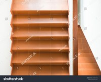 Modern Stairs Handrail Interior Building Stock Photo ...