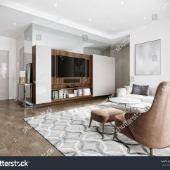 White Contemporary Living Room Small With Fireplace Layout Royalty Free Stock Illustration Of Modern Urban Hotel Interior Design Walls Tv Kitchen