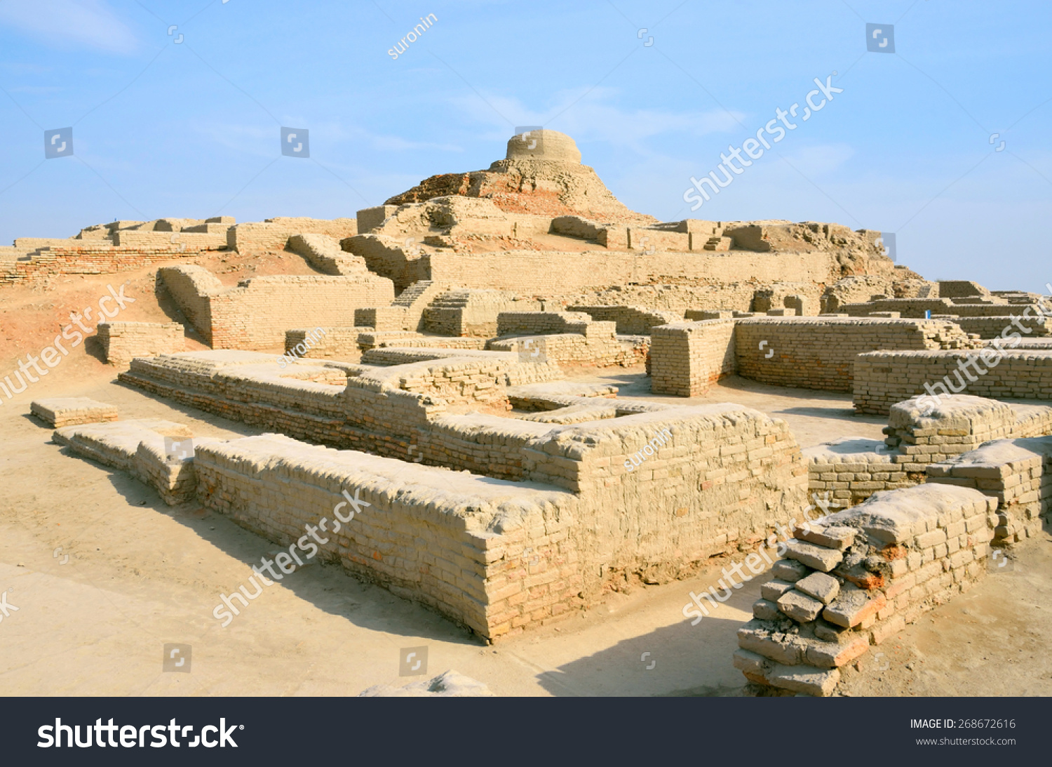 Mohenjo Daro Pakistan March 28 Stock Photo