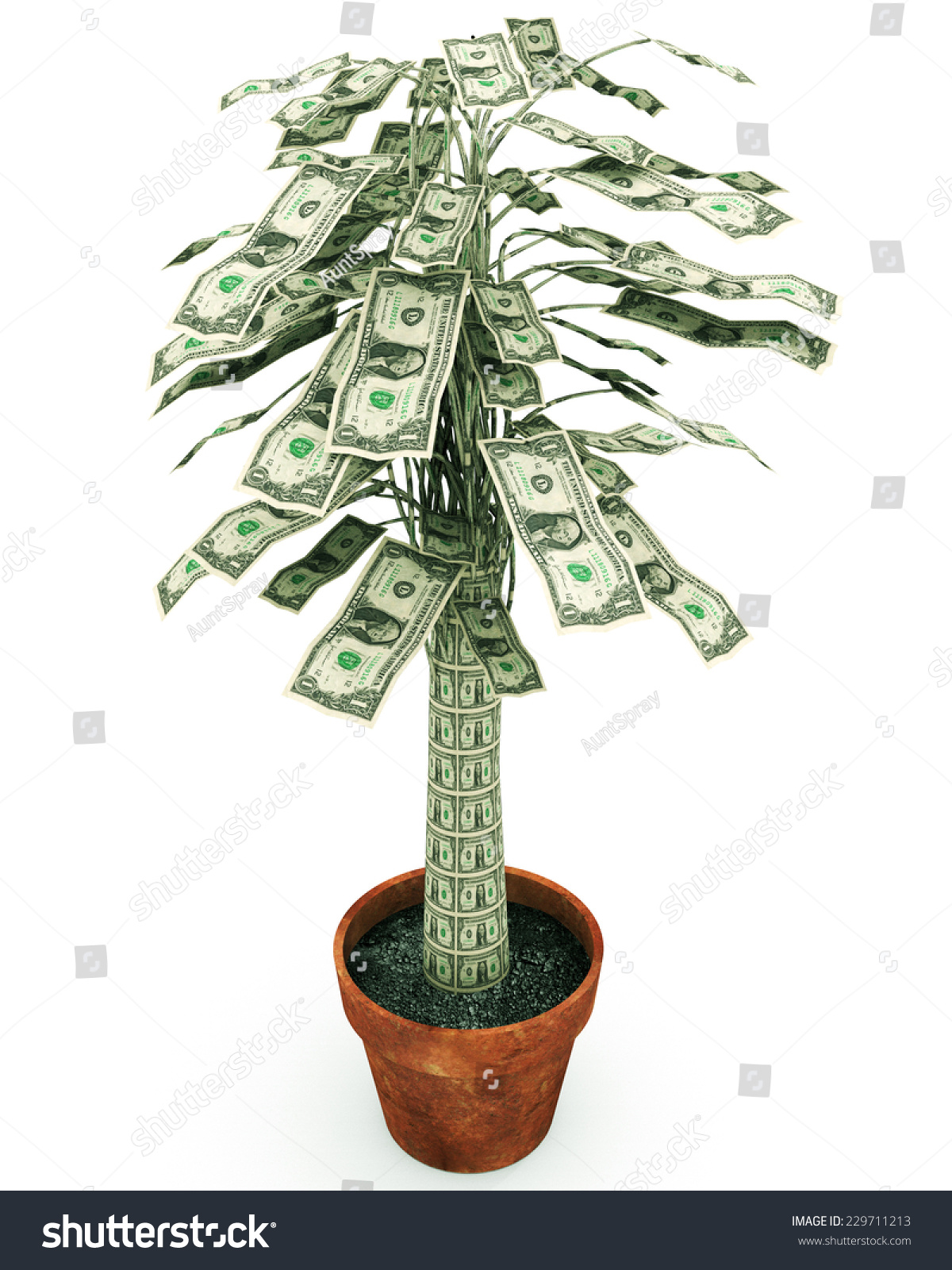 Money Tree Illustration Related Growing Wealth Stock Illustration 229711213 - Shutterstock