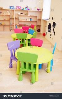 Montessori Kindergarten Preschool Classroom Table Chairs ...