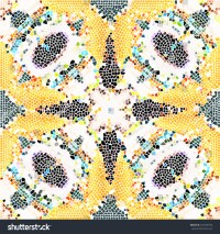 Mosaic Colorful Pattern Wallpapers Ceramic Tiles Stock ...