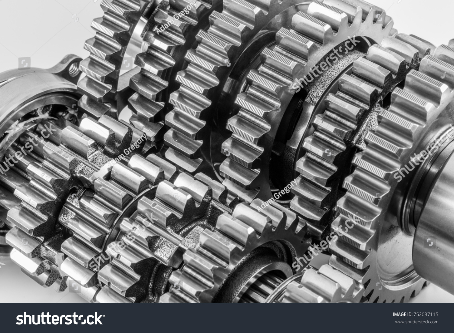 hight resolution of motorcycle race gearbox