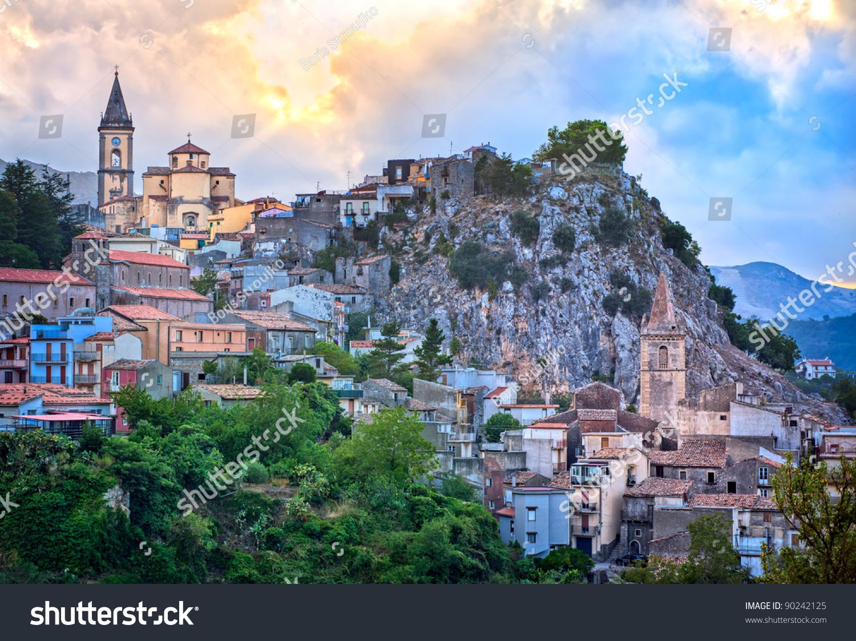Mountain Landscape By Italian Village Novara Stock Photo 90242125  Shutterstock