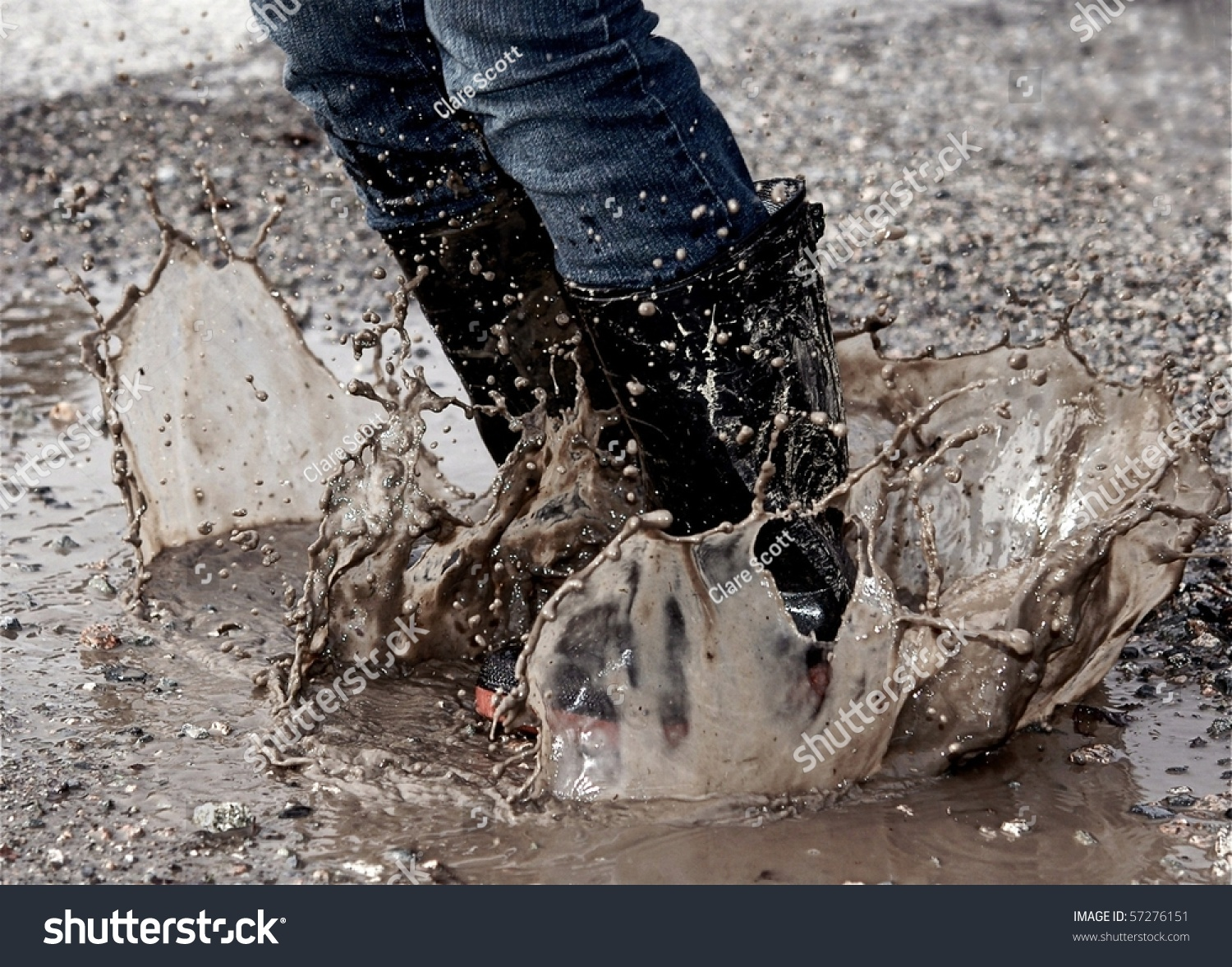 Mud Puddle Splash Stock Photo 57276151  Shutterstock