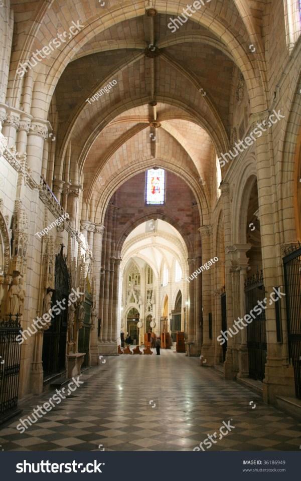 Murcia Cathedral Interior. Beautiful Gothic Architecture