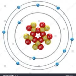 Neon Atom Diagram 2000 Ford Explorer Radio Wiring On A White Background Stock Photo 134847971