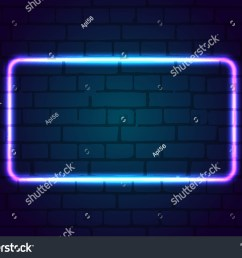neon sign frame blank against a brick wall  [ 1500 x 1188 Pixel ]