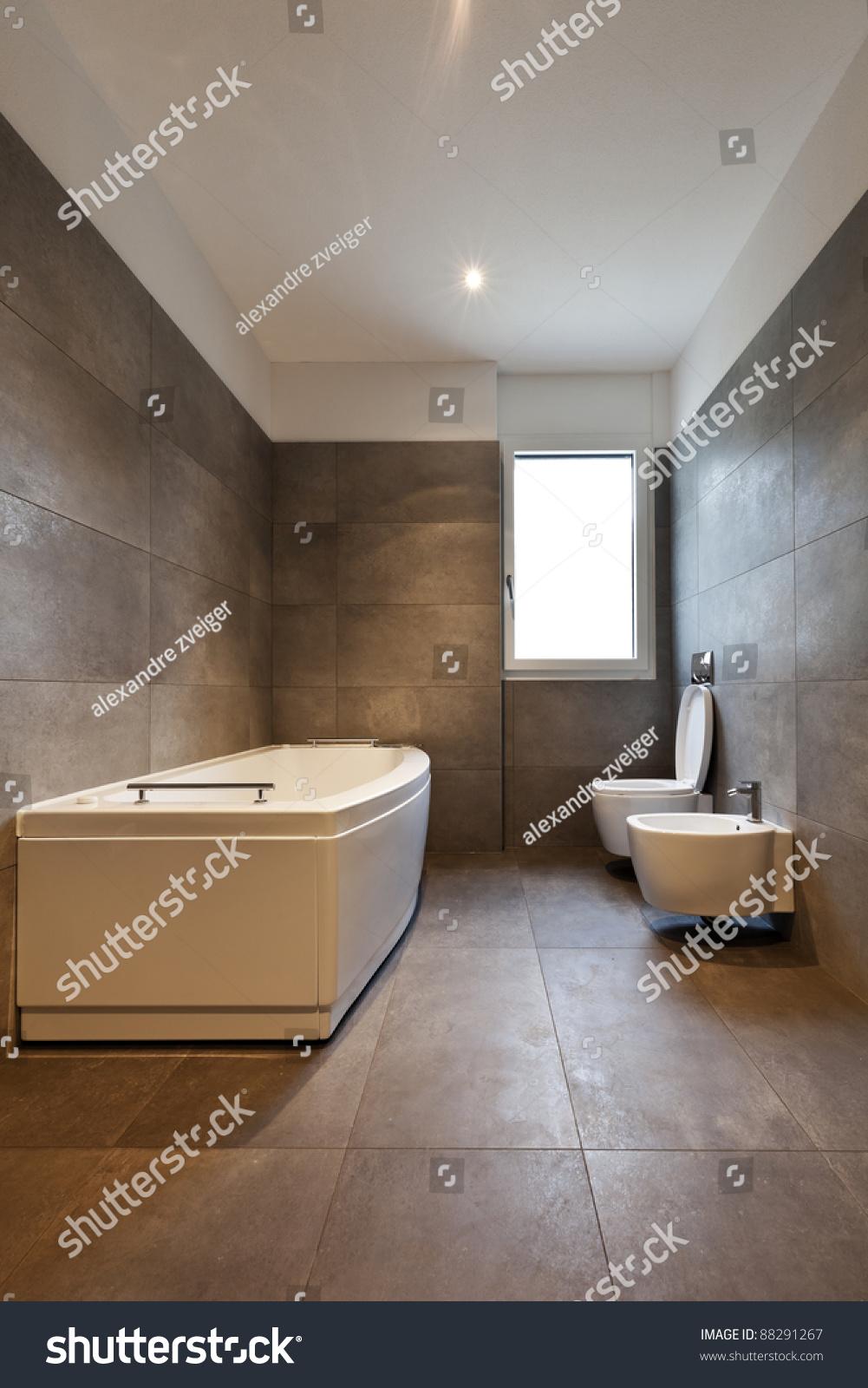 New Apartment Empty Bathroom Stock Photo 88291267  Shutterstock