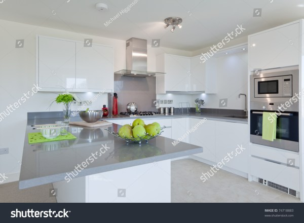 Fitted Modern Kitchen With Built In Stainless Steel