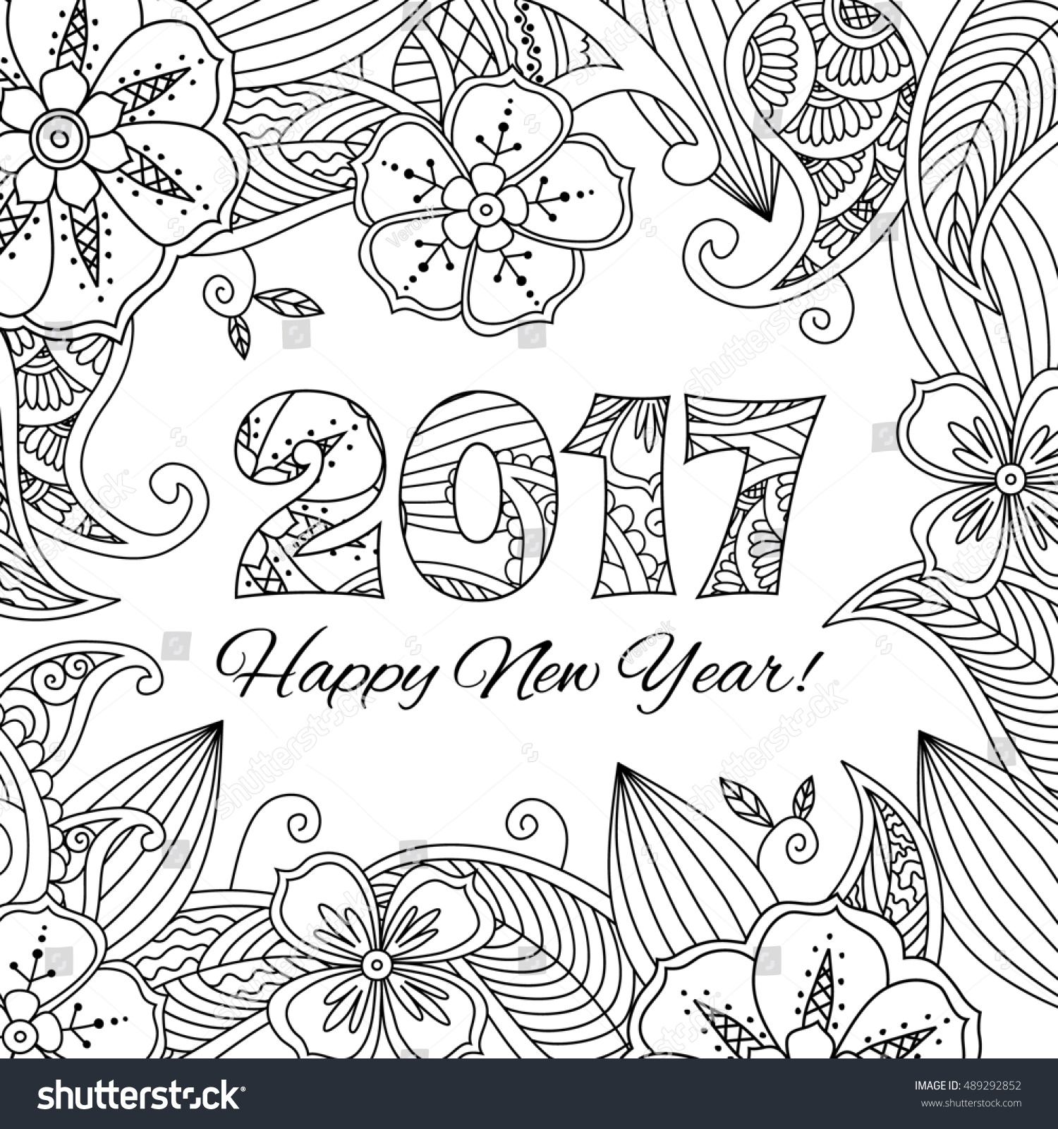 New Years Card Numbers On Stock Illustration