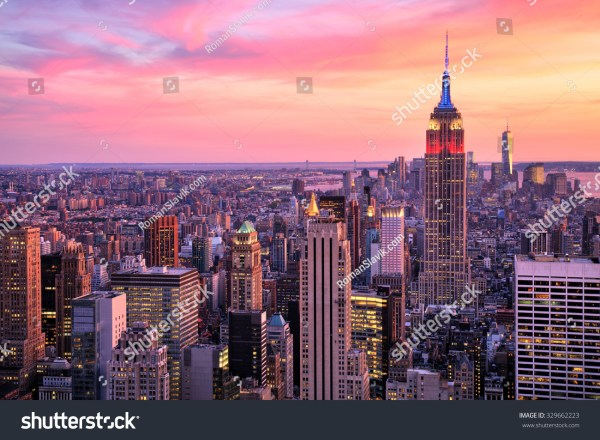Empire State Building New York City Sunset