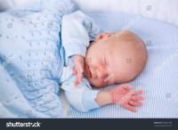 Newborn Baby Boy Bed New Born Stock Photo 300821888 ...