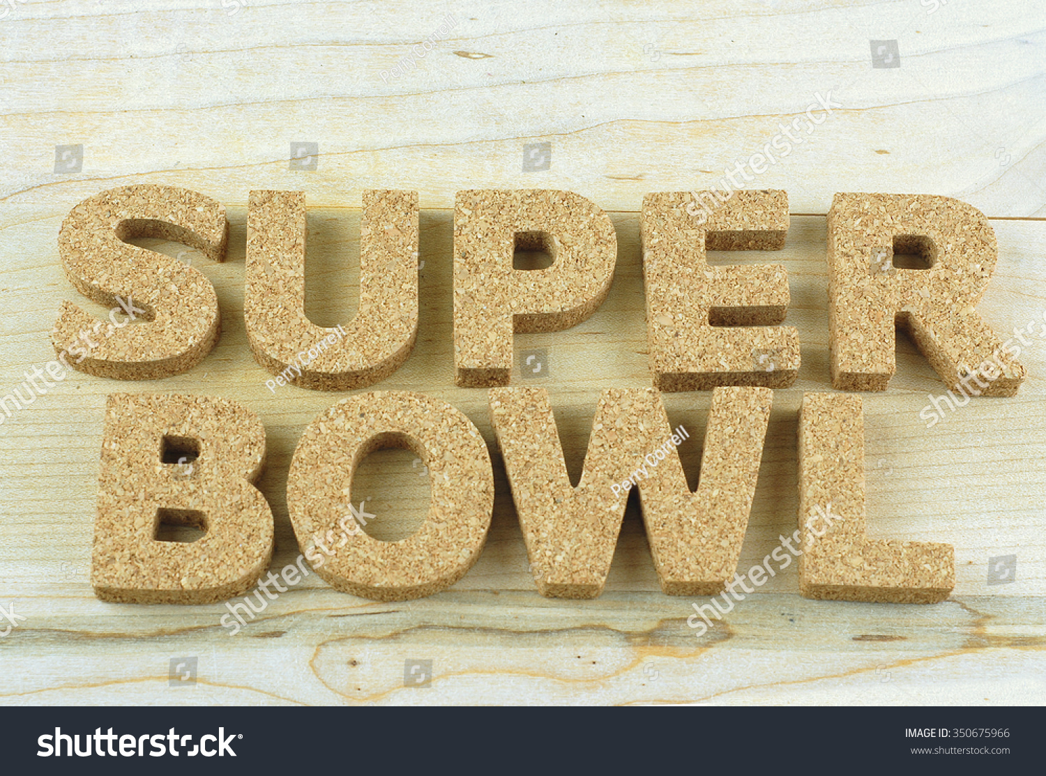 Nfl Football Theme With Block Letters Made Out Of Cork On