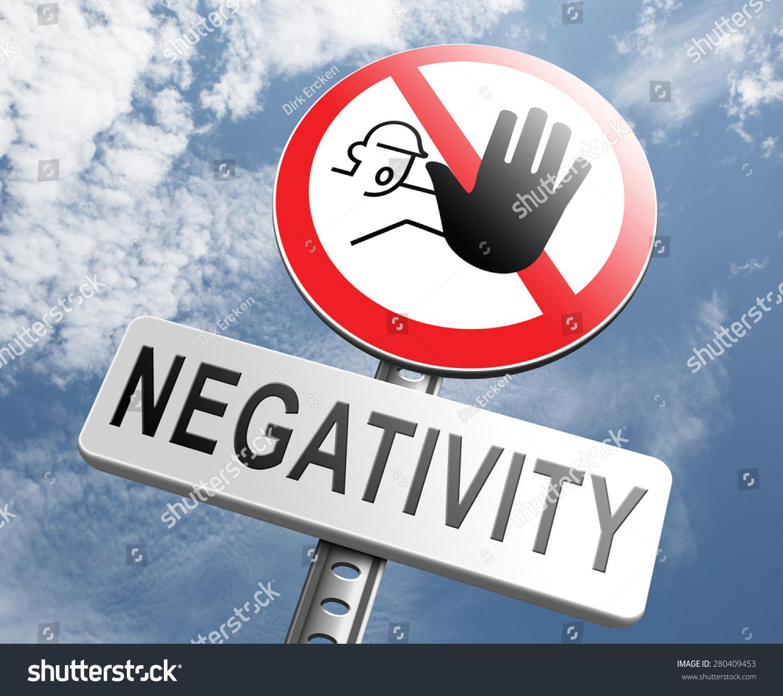No Pessimism Stop Negativity Think Positive Stop