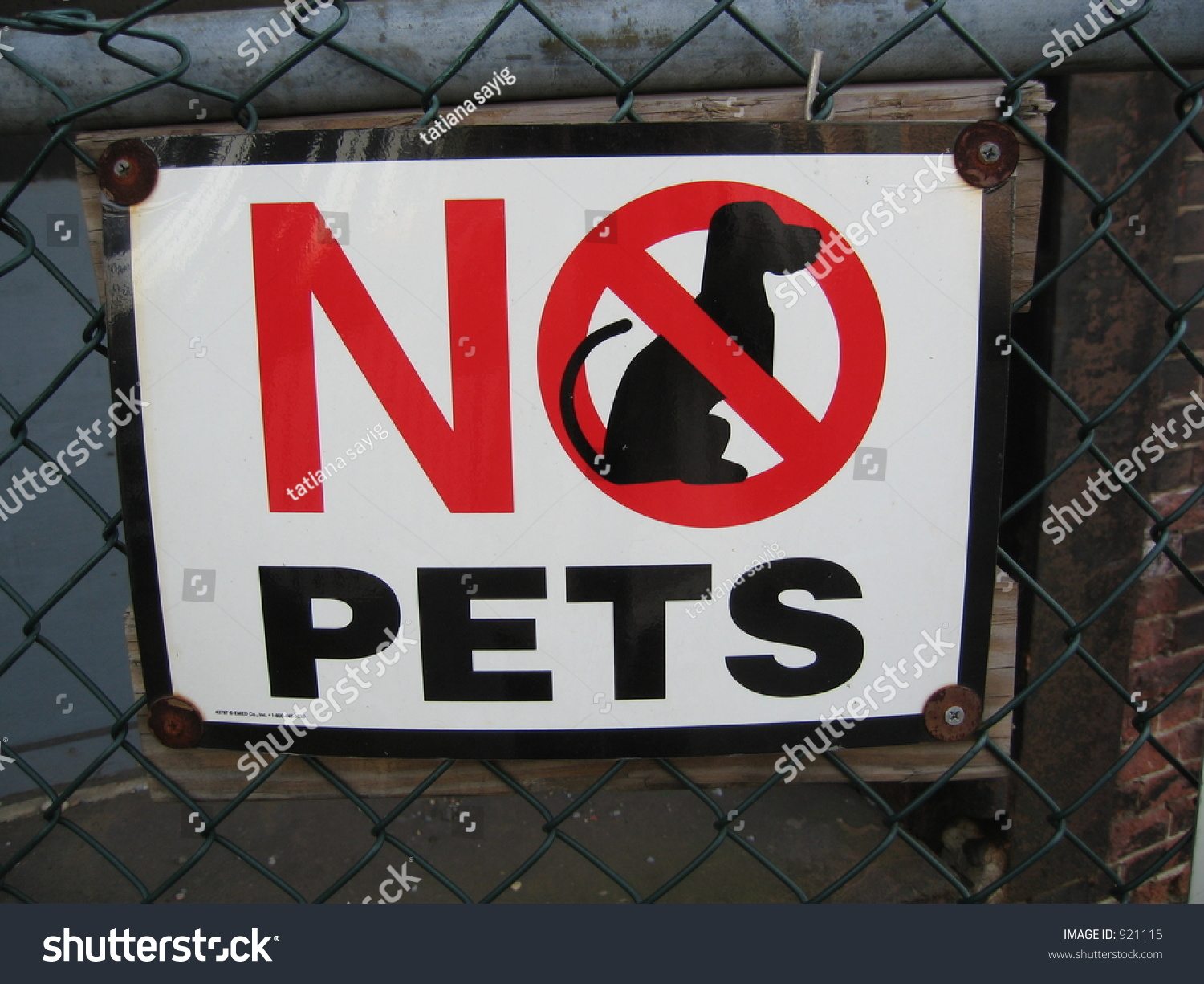 No Pets Sign Stock Photo Shutterstock