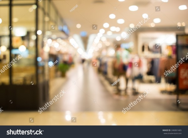 Normal Angle Department Store Background Blur Stock