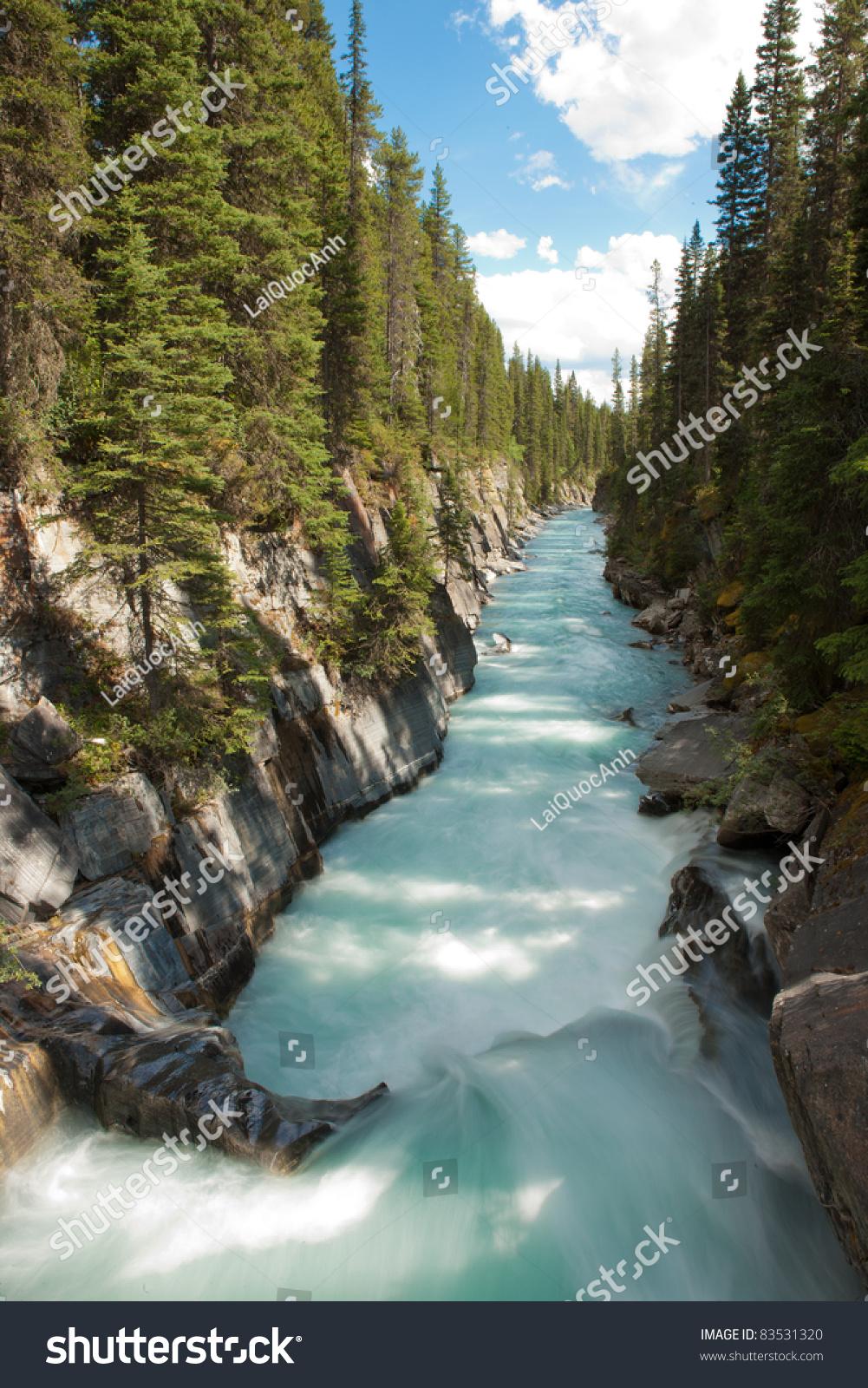 Numa Falls Canada Wallpaper Numa Falls Kootenay National Park British Stock Photo