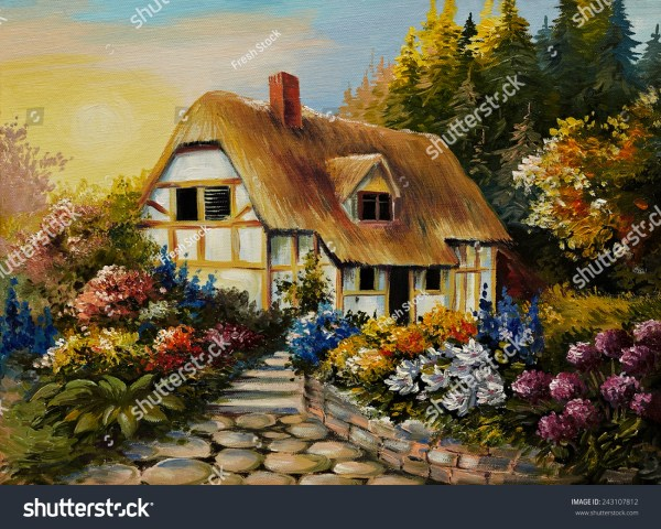 Fairy House Oil Paintings