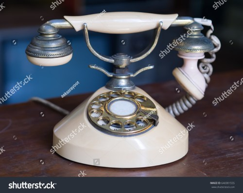small resolution of old antique phone on wooden table