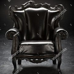 Gray Leather Sofa Images Arm Covers Pattern Old Black Chair Upholstered Isolated Stock Photo ...