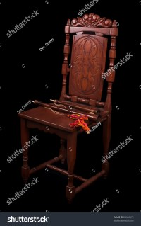 Old Chair With Medieval Wood Winds Stock Photo 89688679 ...