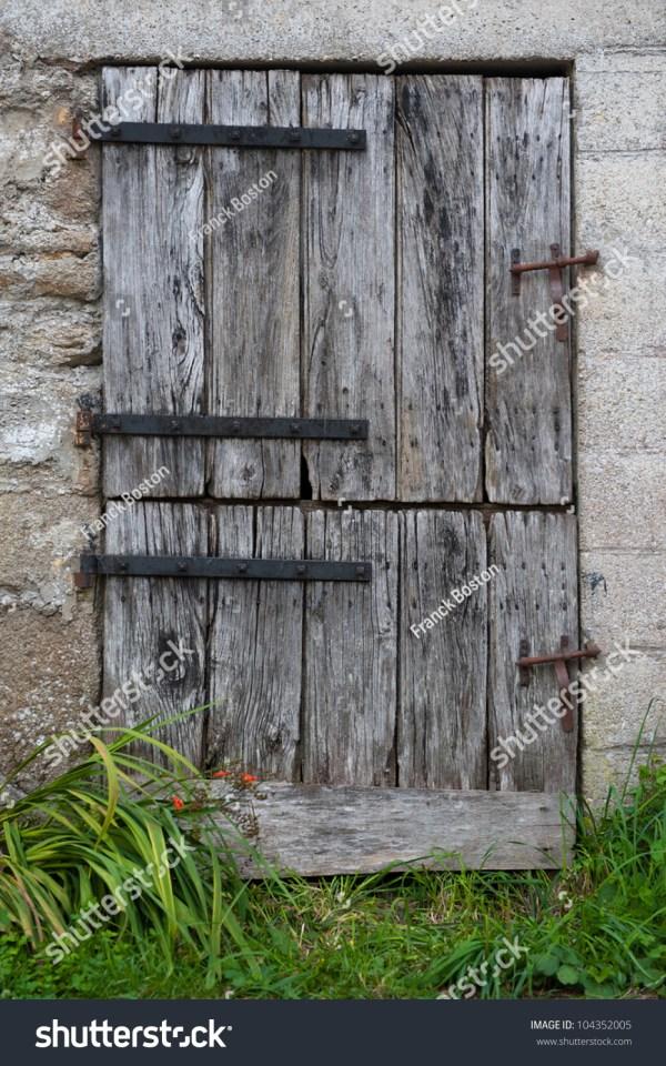 Old Farm Door Double Opening Stock Photo 104352005
