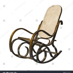 Old Fashioned Rocking Chairs Duck Chair Covers Oldfashioned Isolated Over White Stock Photo